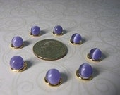 Cats Eye Lavender 6mm Glass Bead