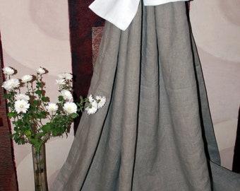 Linen Curtain Panel Grey Gray ECO