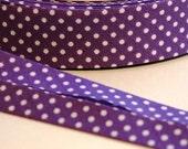 Purple polka dot bias binding Trimming 3 metres uk seller