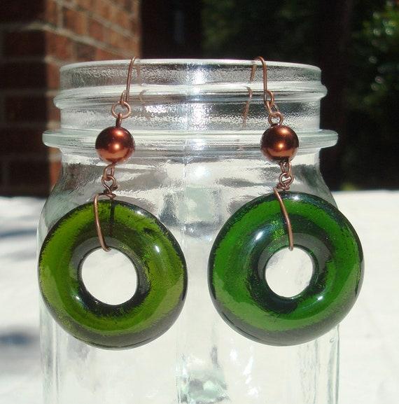 Wine Bottle Earrings Green Wine Gifts
