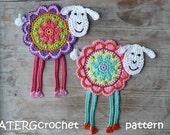 Crochet pattern flower sheep by ATERGcrochet