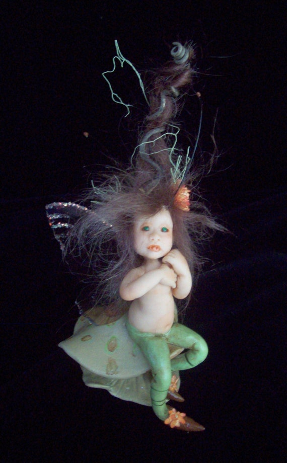 reserved for susan...OOAK handmade baby fairy sculpted fairy fae pixie