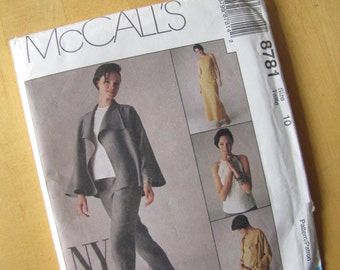 Uncut McCalls Sewing Pattern 8781 - Jacket, Top and Pants - Size 10