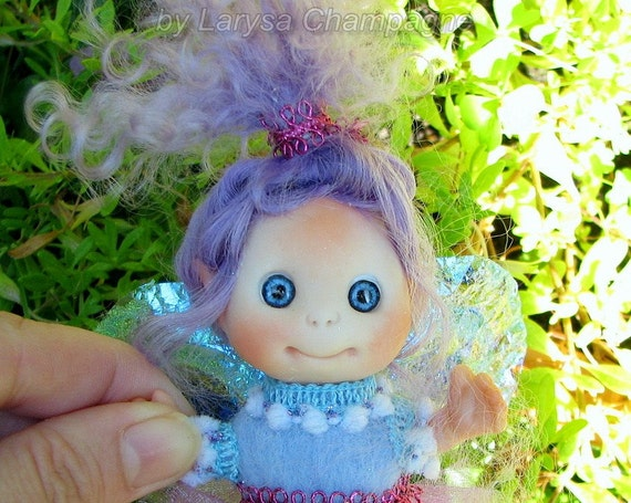 Purple Lavender Fairy , Cute Baby Doll, Decoration for home Christmas, Lucky Charm