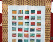 "Pop Block Quilt Pattern - Makes 5 sizes using 5"" Squares / Charm Squares - Printed Pattern"
