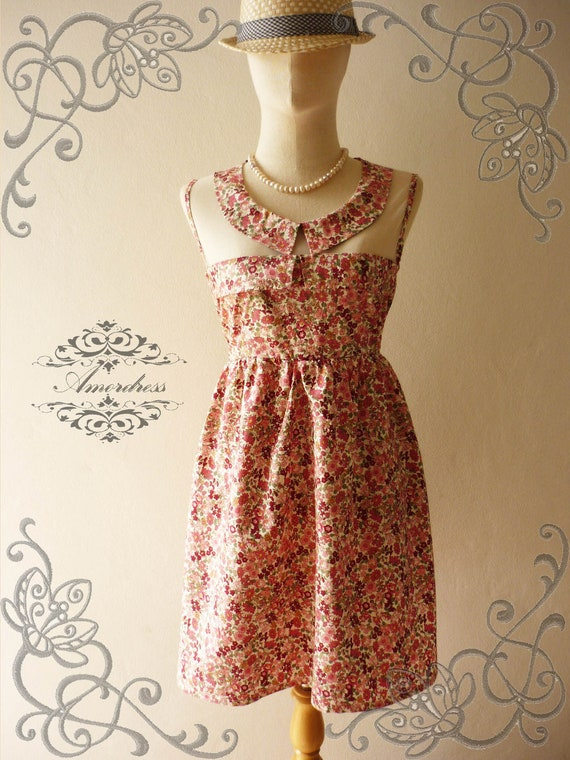 NEW TODAY Amor Vintage Inspired Adore Me Pinky Pink Floral Dress Sleeveless Cute See Through Detail Top -Fit Size S-M-