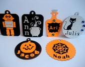 10 Mix and Match Personalized Halloween Treat Tags for Classroom, Parties, and Trick or Treating