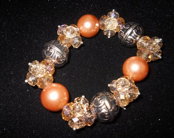 Bling bead and crystal bracelet