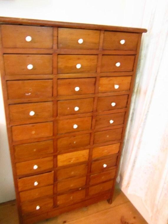 Primitive pine apothecary cabinet cupboard antique