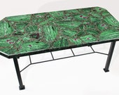 Rubies in Zoisite coffee table
