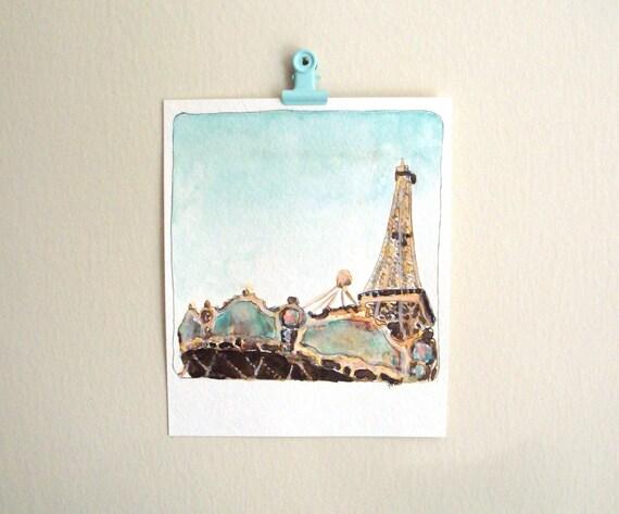Paris painting Eiffel tower art French art Paris, France