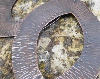 Tribal Shield, Large Copper Earrings