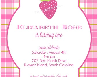 Printable Invitations- Strawberry Party by Bloom