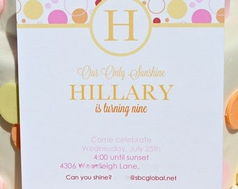Printable Invitations- You Are My Sunshine Party by Bloom