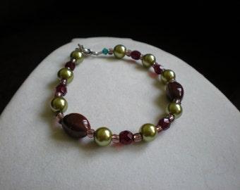 Olive, Cherry and Chocolate Bracelet