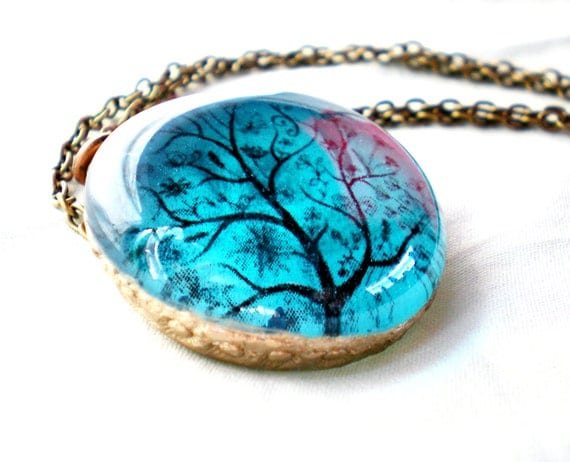 Tree of Life Glass Necklace