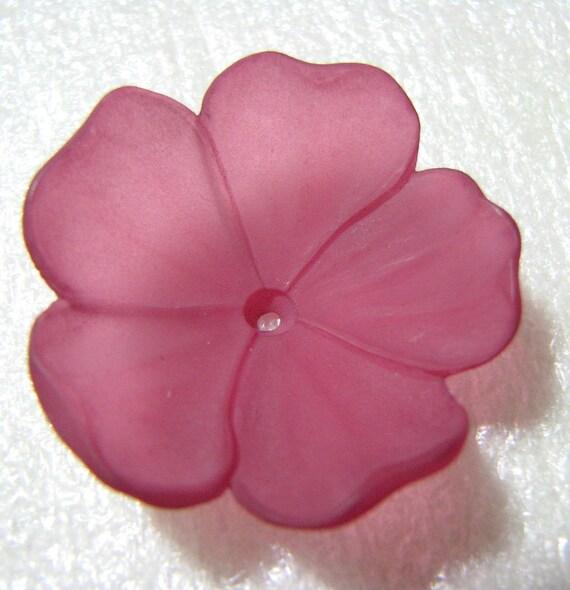 Lucite Flower Mauve 50% off bead destash