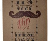 Hipster Letterpress Print