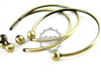 4pcs wiring vintage brass bracelet blank,antiqued bronze bracelet cuff with screw ball 1900026