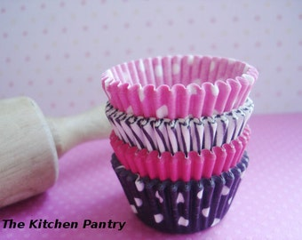 "Mini Cupcake Liners - Mini  Baking Cups "" Poodle Skirt ""(60)"