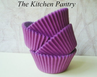 Purple Cupcake Liners -   Baking Cups  50 standard solid purple