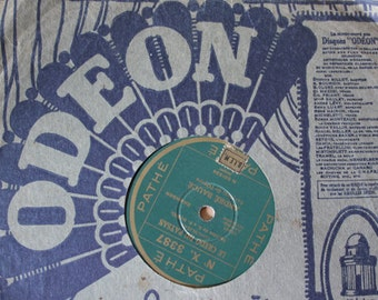Vintage French GRAMOPHONE record. ODEON vinyl record