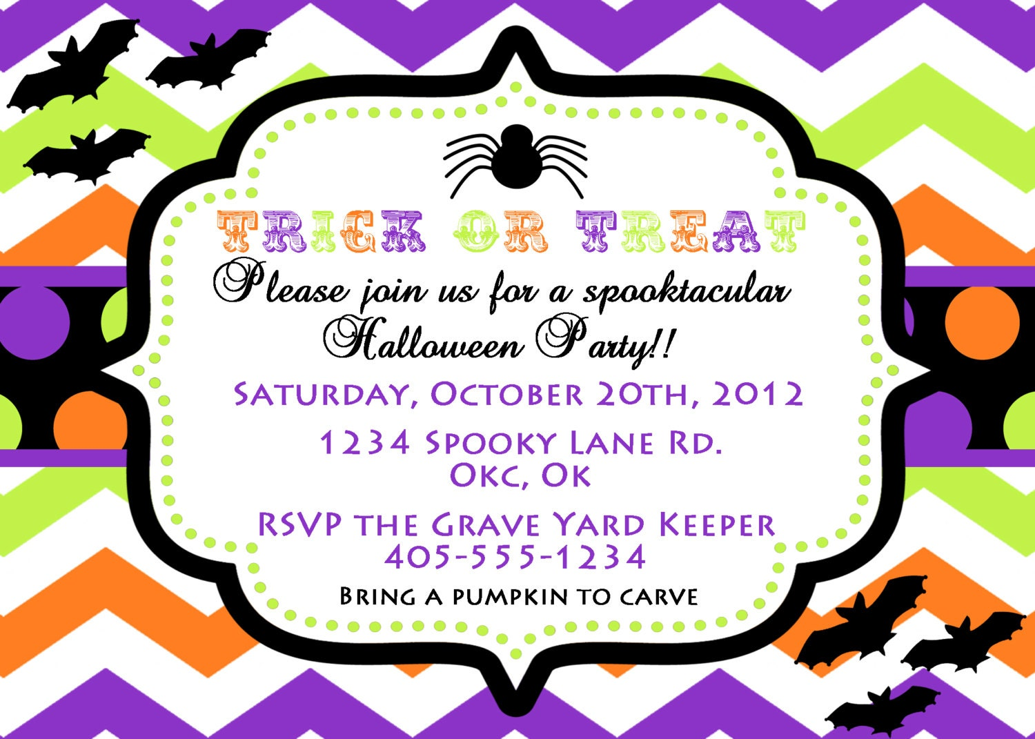 HALLOWEEN Party Invitation PRINTABLE Halloween Invitation