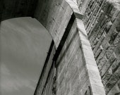 10x15 inch Original Black and White Photography of the Brooklyn Bridge Archway in New York City