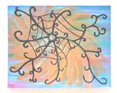 "Acrylic Painting Original Abstract Modern Art  ""Mystic Web of Dreams"" 16 x 20 - KatiesCreativeCorner"