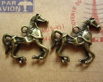 10pcs 29x23mm antique bronze horse charms pendant  C1294