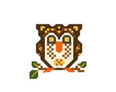Cross Stitch Pattern,Tiny Owl Applique, Tiny Bird Embroidery Stitch Work Pattern