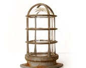 Vintage Crouse-Hinds Explosion Proof Caged Light, Industrial
