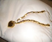 Heart-shaped watch pendant and necklace