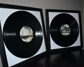 Wedding Guest Book - Two Custom Framed LP Vinyl Record Album Wedding Guest Book Alternatives with Personalized Labels
