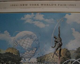 Vintage Industrial New York Worlds Fair Metal Tray - 1964  / 1965
