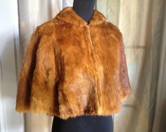 50s Does Victorian Fur Cape FREE US SHIP