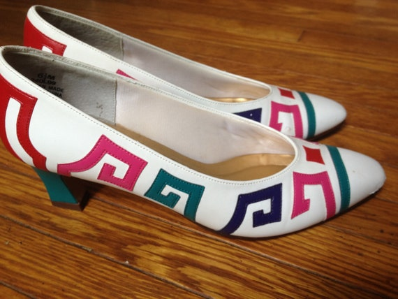 80's Geometric Shoes.