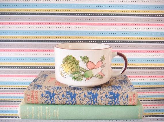 BOXING DAY SALE Vintage - Country Vegetable Soup Mug