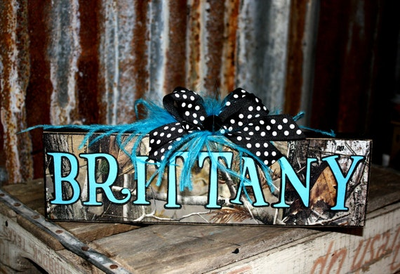 Items Similar To Personalized Customized Camo Name Plates