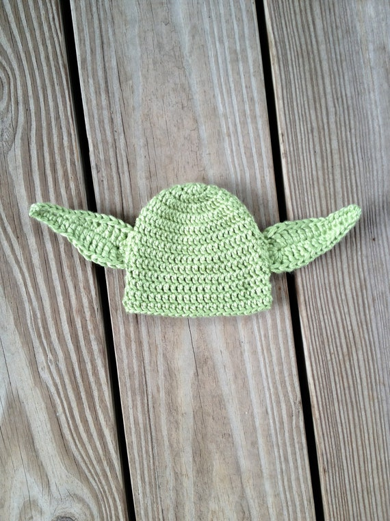 Instant Download - PDF Yoda Earflap Hat Crochet Pattern Newborn to Adult - Star wars Inspired