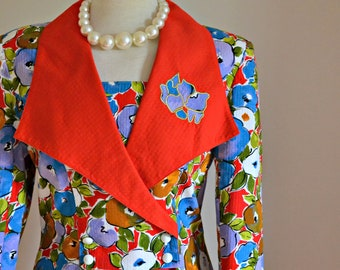 """Vintage 1950s style 1980s made suit - Simon Ellis Women's Suit Spring Fashion // """"High Flying. Adored"""" from Lesley's Girls Vintage"""