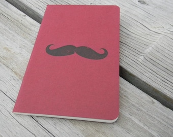 Mini Red Mustache   Journal