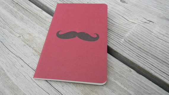 Mini Red Mustache   Journal
