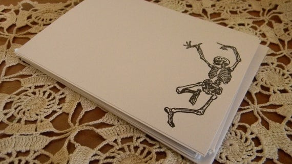 Day Of The Dead Dancing Skeleton Blank Note Cards