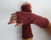Crochet patterns, girl and women arm warmer pattern, wrist warmer crochet pattern, INSTANT DOWNLOAD fingerless glove pattern (113)