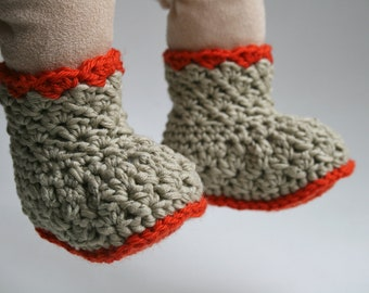Crochet pattern, crochet baby pattern, easy crochet baby booties pattern, crochet baby shoes (105) INSTANT DOWNLOAD