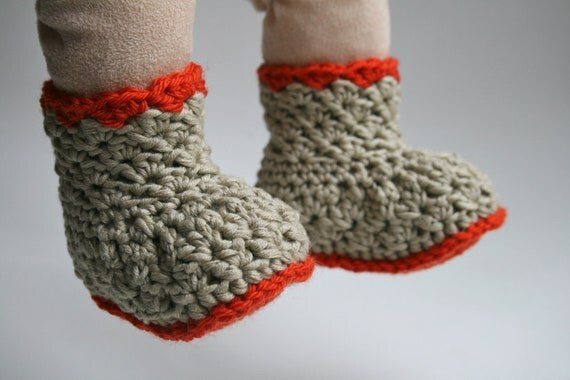 Crochet Pattern Baby Boots pattern INSTANT DOWNLOAD crochet