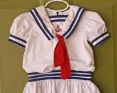 Vintage Sailor Toddler Dress 3T