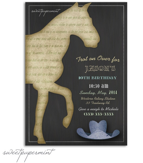Items Similar To Vintage Horse Child's Boy Birthday