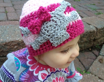 Punk Rocker or Princess Skull Hat with Bow